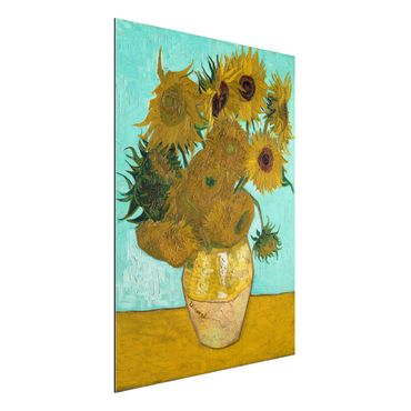 Alu-Dibond Bild - Vincent van Gogh - Vase mit Sonnenblumen