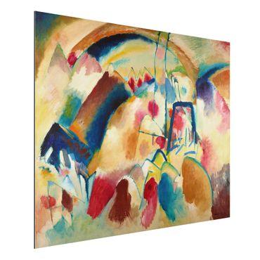Alu-Dibond Bild - Wassily Kandinsky - Landschaft mit Kirche (Landschaft mit roten Flecken I)