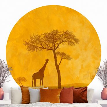 Runde Tapete selbstklebend - Amazing Kenya