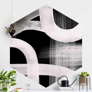 Hexagon Mustertapete selbstklebend - Aquarellstraßen