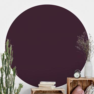 Runde Tapete selbstklebend - Aubergine