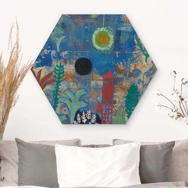Hexagon Bild Holz - Paul Klee - Versunkene Landschaft