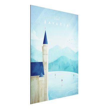 Aluminium Print - Reiseposter - Bavaria - Hochformat 4:3