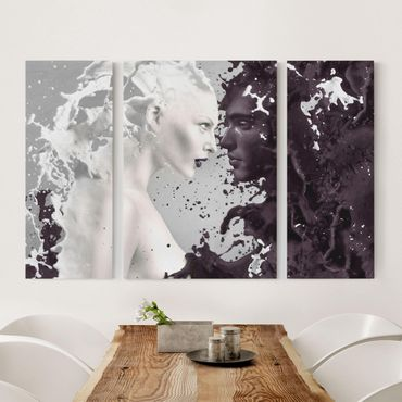 Leinwandbild 3-teilig - No.70 MILK & COFFEE - Triptychon