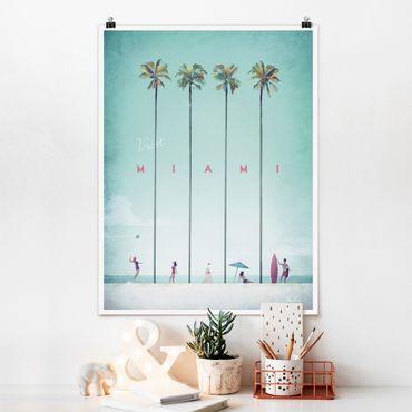 Poster - Reiseposter - Miami - Hochformat 4:3