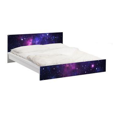 Möbelfolie für IKEA Malm Bett niedrig 180x200cm - Klebefolie Galaxie