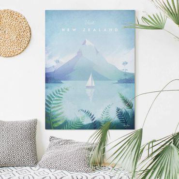 Leinwandbild - Reiseposter - Neuseeland - Hochformat 4:3
