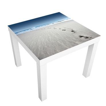 Möbelfolie für IKEA Lack - Klebefolie Spuren im Sand