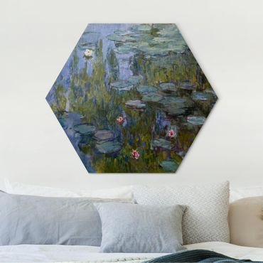 Hexagon Bild Alu-Dibond - Claude Monet - Seerosen (Nympheas)