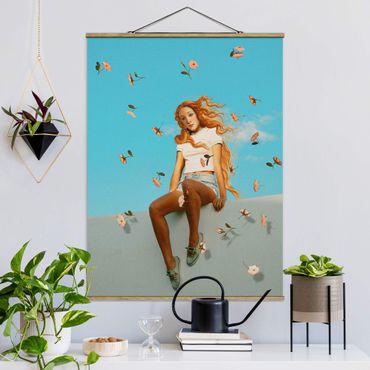 Stoffbild mit Posterleisten - Jonas Loose - Retro Venus - Hochformat 4:3