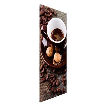 Magnettafel - Kaffeetasse mit Kaffeebohnen - Memoboard Panorama Hochformat 2:1
