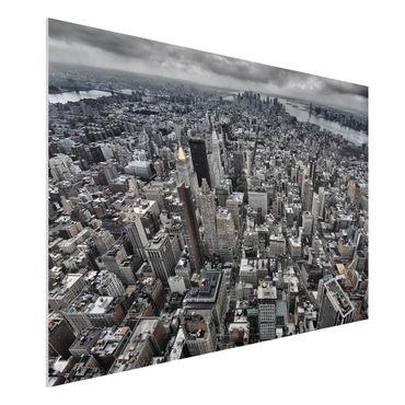 Forex Fine Art Print - Blick über Manhattan - Querformat 2:3