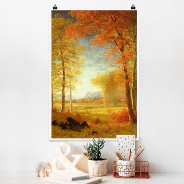Poster - Albert Bierstadt - Herbst in Oneida County, New York - Hochformat 3:2