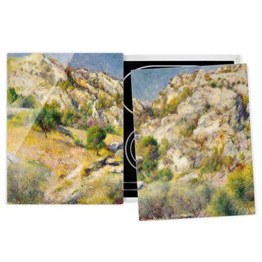 Herdabdeckplatte Glas - Auguste Renoir - Felsen bei Estaque - 52x80cm