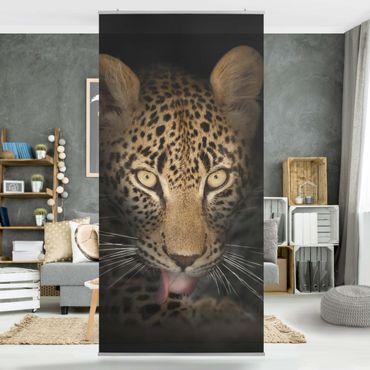 Raumteiler - Resting Leopard 250x120cm