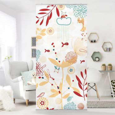 Raumteiler Kinderzimmer - Spring Garden 250x120cm