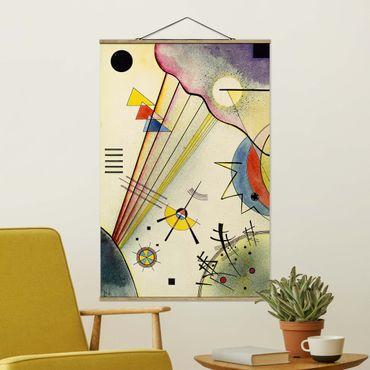 Stoffbild mit Posterleisten - Wassily Kandinsky - Deutliche Verbindung - Hochformat 2:3
