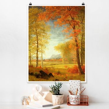 Poster - Albert Bierstadt - Herbst in Oneida County, New York - Hochformat 3:4