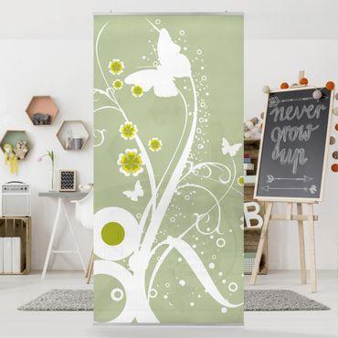 Raumteiler Kinderzimmer - Tanzende Schmetterlinge 250x120cm