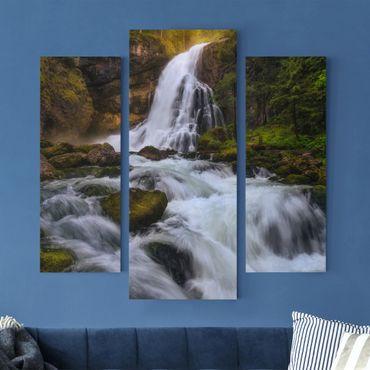 Leinwandbild 3-teilig - Frühjahrsflut - Galerie Triptychon
