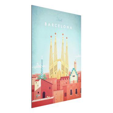 Aluminium Print - Reiseposter - Barcelona - Hochformat 4:3