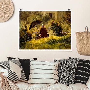 Poster - Carl Spitzweg - Der Maler im Garten - Querformat 3:4