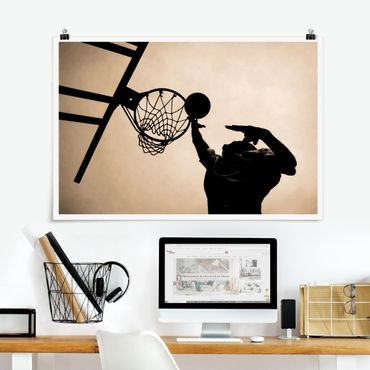 Poster - Basketball - Querformat 2:3
