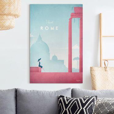 Leinwandbild - Reiseposter - Rom - Hochformat 3:2
