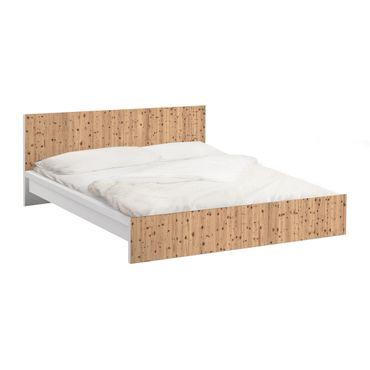 Möbelfolie für IKEA Malm Bett niedrig 140x200cm - Klebefolie Antique Whitewood