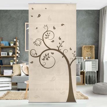 Raumteiler Kinderzimmer - No.CA25 Herbstbaum 250x120cm