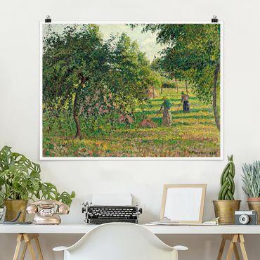 Poster - Camille Pissarro - Apfelbäume - Querformat 3:4
