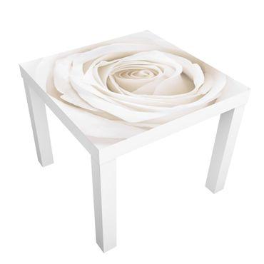 Möbelfolie für IKEA Lack - Klebefolie Pretty White Rose
