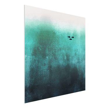 Forex Fine Art Print - Fische in der Tiefsee - Quadrat 1:1