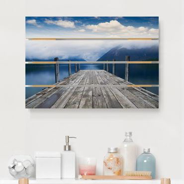 Holzbild - Nelson Lakes National Park Neuseeland - Querformat 2:3