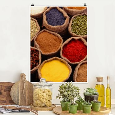 Poster - Colourful Spices - Hochformat 3:4