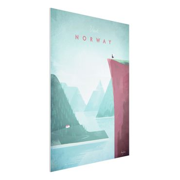 Forex Fine Art Print - Reiseposter - Norwegen - Hochformat 4:3