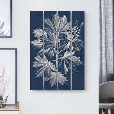 Holzbild - Denim Pflanzenstudie V - Hochformat 3:2