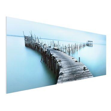 Forex Fine Art Print - Der Hafen von Carrasqueira - Panorama