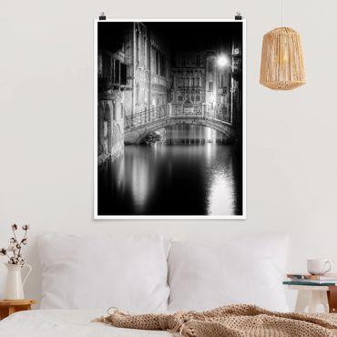 Poster - Brücke Venedig - Hochformat 3:4