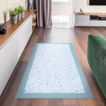 Vinyl-Teppich - Detailliertes Terrazzo Muster Genua mit Rahmen - Querformat 2:1