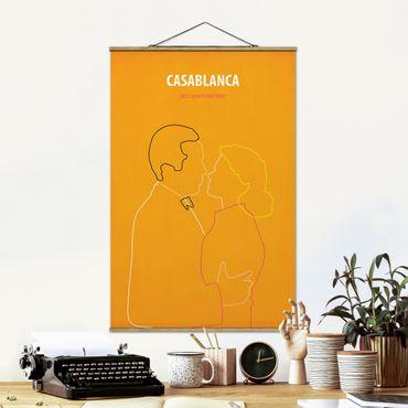 Stoffbild mit Posterleisten - Filmposter Casablanca - Hochformat 2:3