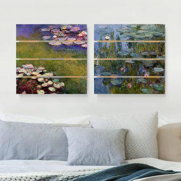 Holzbild 2-teilig - Claude Monet - Seerosen Set - Quadrate 1:1