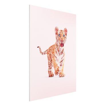 Forex Fine Art Print - Jonas Loose - Tiger mit Glitzer - Hochformat 4:3