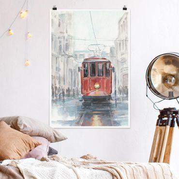 Poster - Straßenbahn-Studie I - Hochformat 3:2