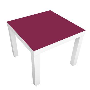 Möbelfolie für IKEA Lack - Klebefolie Colour Wine Red