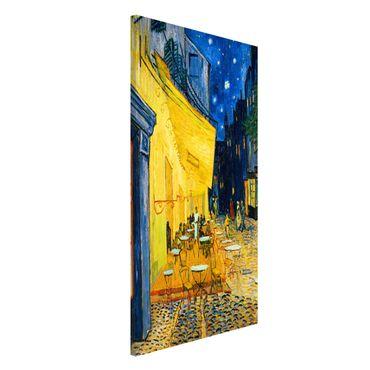 Magnettafel - Vincent van Gogh - Café-Terrasse in Arles - Memoboard Hochformat 4:3