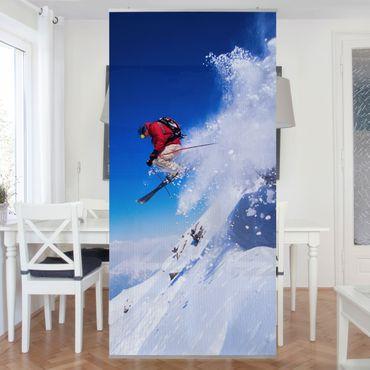 Raumteiler Kinderzimmer - Skisprung am Hang 250x120cm