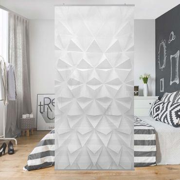 Raumteiler - Geometrisches Muster 3D Effekt 250x120cm