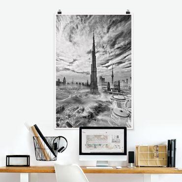 Poster - Dubai Super Skyline - Hochformat 3:2