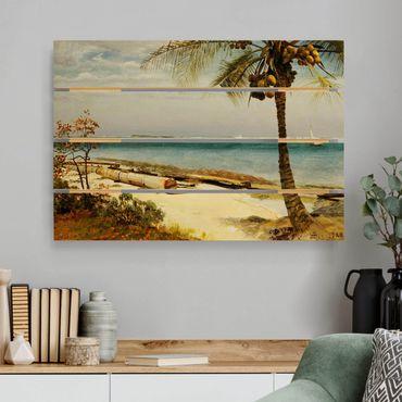 Holzbild - Albert Bierstadt - Küste in den Tropen - Querformat 2:3